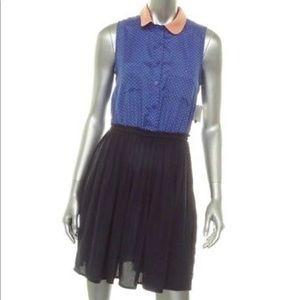 Maison Jules NWT blue/peach dress